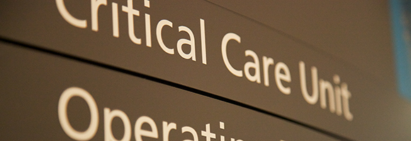 Hospital signage to critical care
